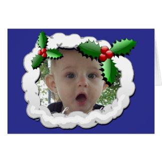 Photo Frame Christmas Card