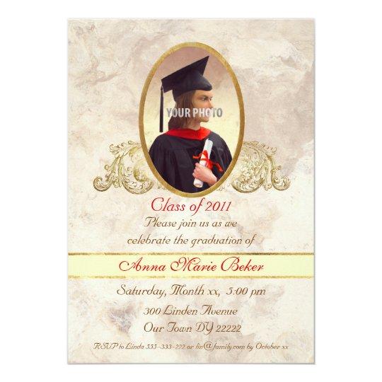 Photo Frame Graduation Celebration 13 Cm X 18 Cm Invitation Card