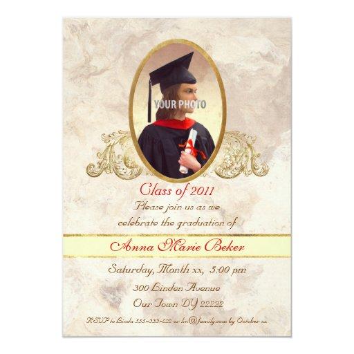 Photo Frame Graduation Celebration Invite