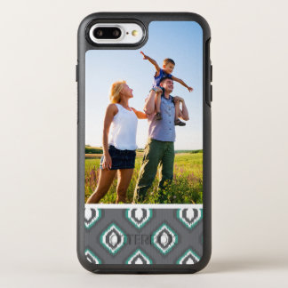 Photo Geometric retro ikat tribal pattern OtterBox Symmetry iPhone 8 Plus/7 Plus Case