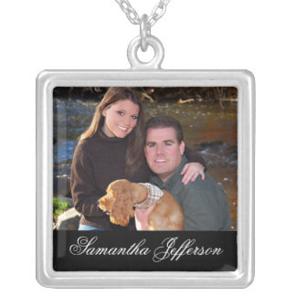 Photo Gift Necklace - Message w/ Horizontal Photo