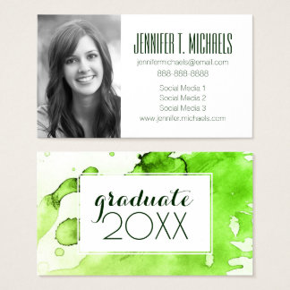 Photo Graduation | Abstract  Background Business Card