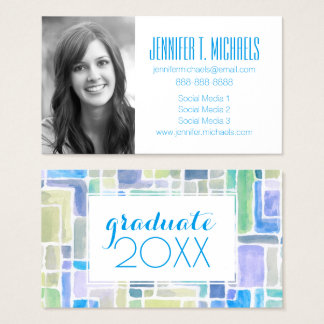 Photo Graduation   Abstract Paint Business Card
