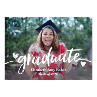 Photo Graduation Announcement 5x7 Card