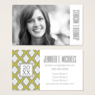Photo Graduation | Arab Style Pattern Business Card
