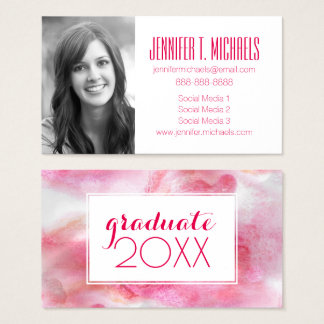 Photo Graduation | Art Red Avant-garde Business Card