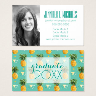 Photo Graduation | Bright Pineapples Business Card