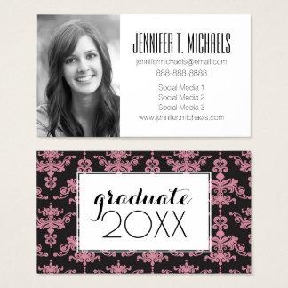 Photo Graduation | Damask Pattern Business Card