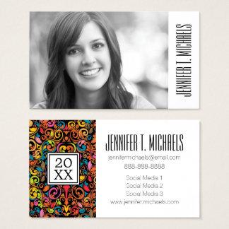 Photo Graduation | Funky pattern Business Card