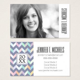 Photo Graduation   Geometric Pattern Business Card