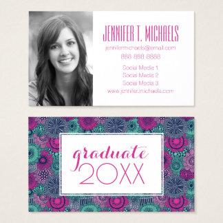 Photo Graduation   Gorgeous Flowers Business Card