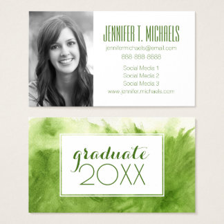 Photo Graduation | Great Watercolor Business Card