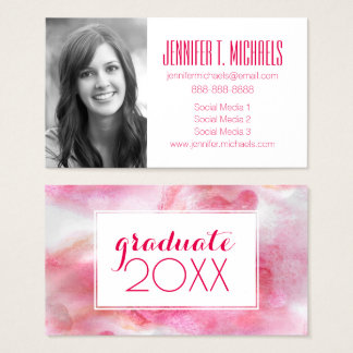 Photo Graduation | Hand Painted Red Business Card