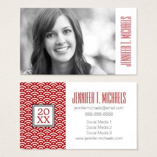 Photo Graduation | Japanese Pattern Business Card