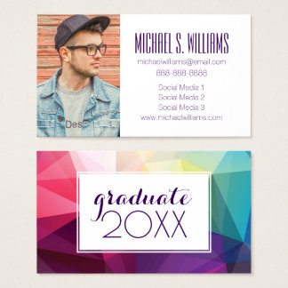 Photo Graduation | Modern Design Business Card