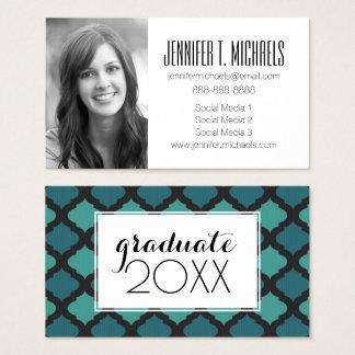Photo Graduation   Mosaic Arabic Business Card