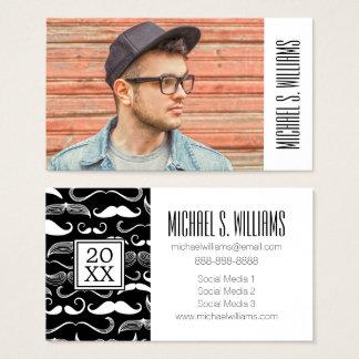Photo Graduation | Mustache Pattern Business Card