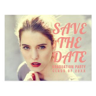 Photo Graduation Party Invitation. Save The Date. Postcard