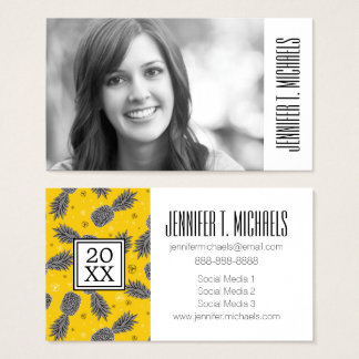 Photo Graduation | Pineapples On Gold Business Card