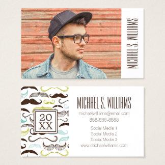 Photo Graduation | Retro Mustaches Business Card