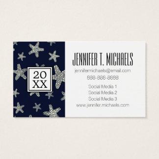 Photo Graduation | Sea Of Starfish Pattern Business Card