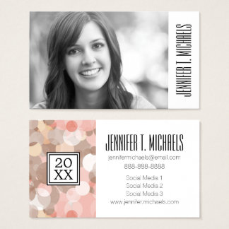 Photo Graduation   Simple Cirles Business Card