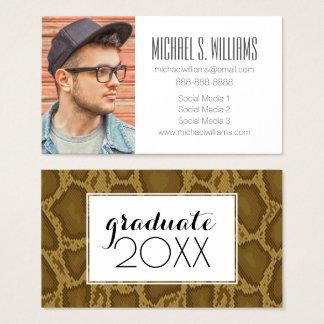 Photo Graduation | Snake Skin Business Card