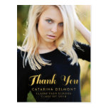 Photo Graduation Thank You High School Gold Foil