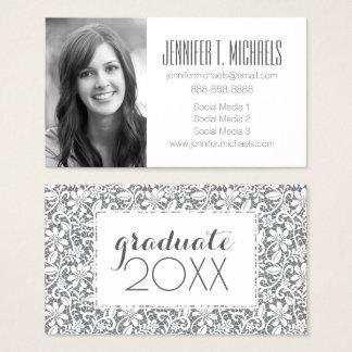 Photo Graduation | White Lace Business Card