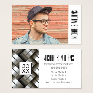 Photo Graduation | Woven Metal Business Card