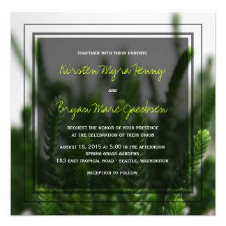 Photo Green Grass Nature Photography Wedding Custom Invite