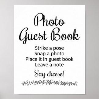 Photo Guest Book Wedding Sign - Rochester