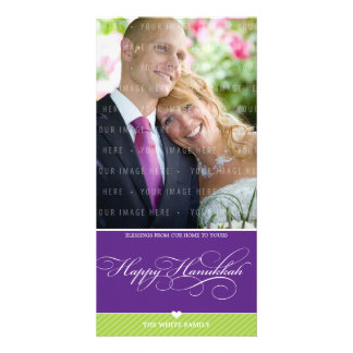 PHOTO HANUKKAH CARD :: lovely type 2 Photo Greeting Card