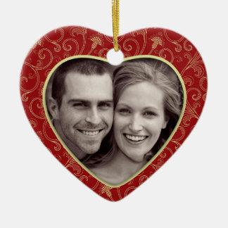 Photo Heart Christmas Ornament