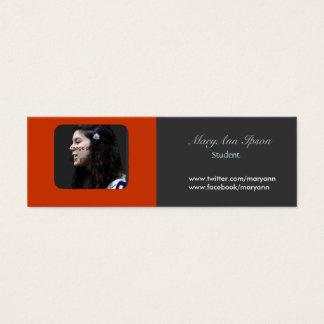 Photo Holder Academic  & Sudent Life Mini Business Card