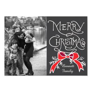 Photo Holiday Card: Chalkboard Merry Christmas 13 Cm X 18 Cm Invitation Card