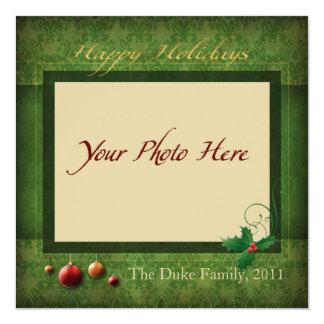 "Photo Holiday Card, ""Happy Holidays"" Card"