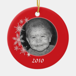 Photo Holiday Snowflake Ornament