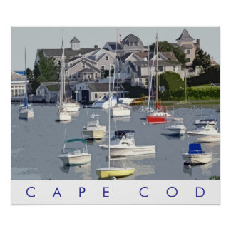 Photo Illustration Cape Cod Harbor Poster