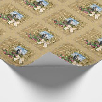 Photo in Elegant Gold Frame Wrapping Paper