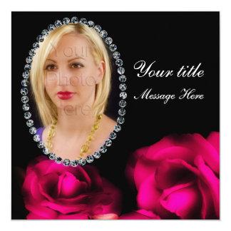 Photo Insert Card - Multi Use - Roses