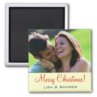 PHOTO INSERT ~ Magnet Christmas Couples