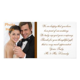Photo Inserts Cards - Wedding Thank You Customised Photo Card