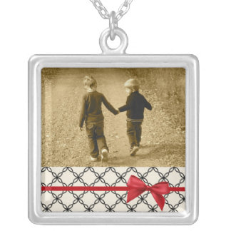 Photo Keepsake Charm Silver Plated Necklace