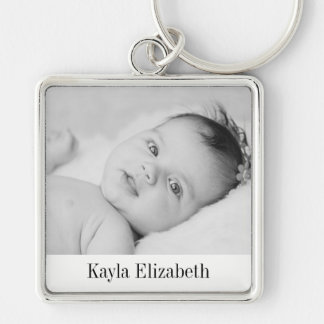 Photo key chain with text