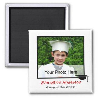 Photo Kindergarten Graduation Announcement Square Magnet