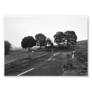 Photo lonely highway