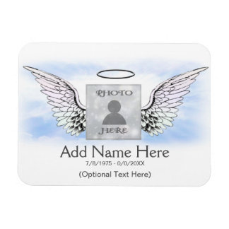 Photo Memorial Angel Wings Rectangular Photo Magnet