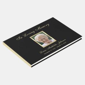 Photo Memorial or Funeral Guest Book