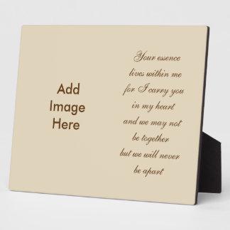 Photo Memorial Poem Plaque